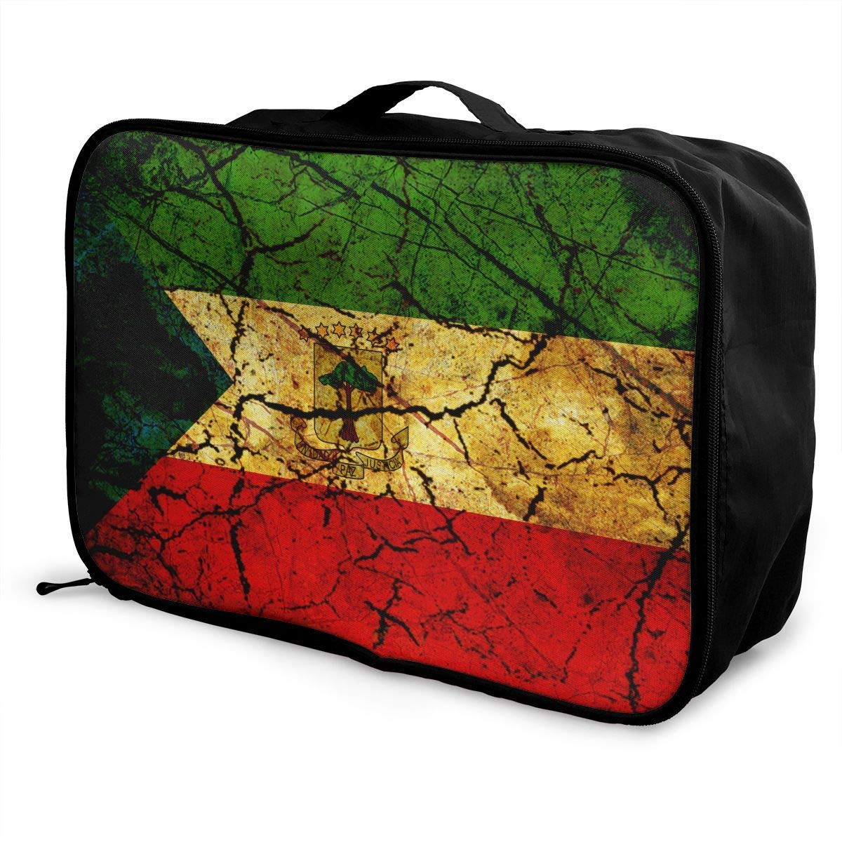 Portable Luggage Duffel Bag Vintage Equatorial Guinea Travel Bags Carry-on In Trolley Handle