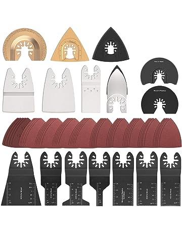 Kit daccessoires oscillants BE-TOOL 20 pi/èces M/élange de lames de scie oscillante Kit daccessoires comprenant des lames de scie /à dents japonaises