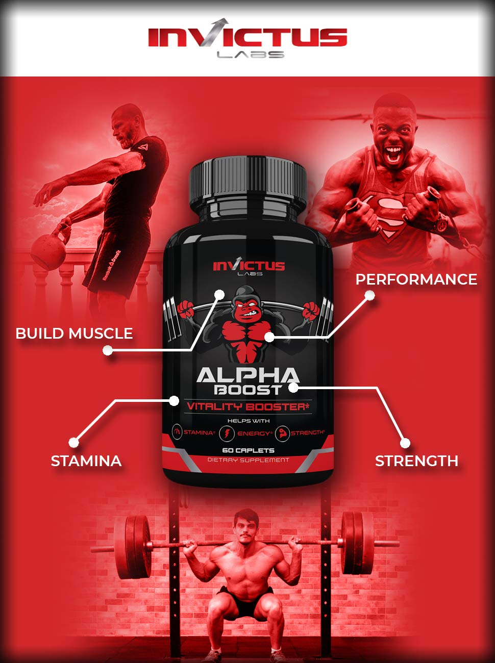 Extra Strength Testosterone Booster for Men (60 Caplets) | Natural  Endurance, Stamina and Strength