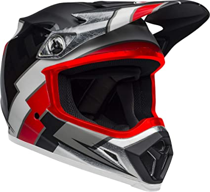 Bell MX-9 MIPS Off-Road Motorcycle Helmet Gloss White//Black//Red Marauder, X-Large