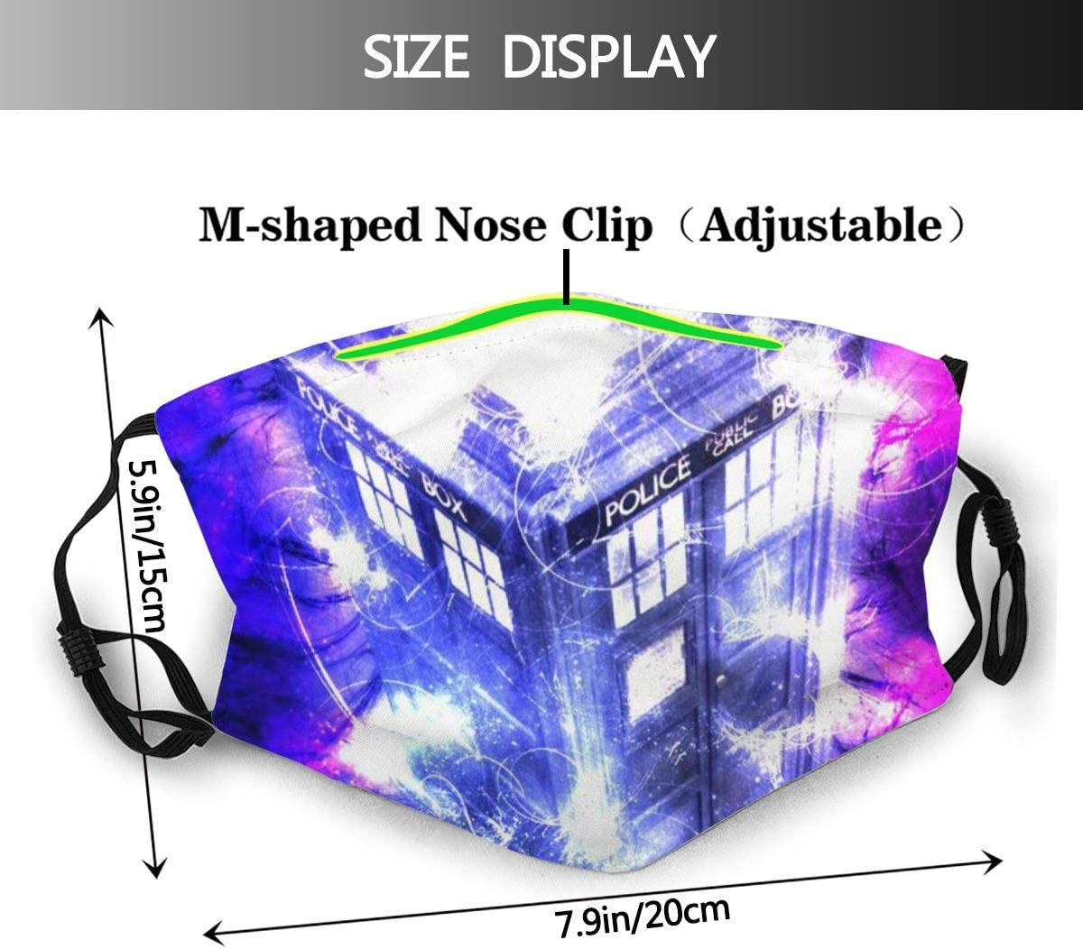 Facial Protection Anti-Dust Cover Mouth Shield Dust-Proof Face Cover with Filter Doctor is Who Safety Face Shields