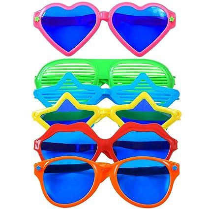 Amazon.com: Cooraby - 6 gafas de sol de plástico jumbo para ...