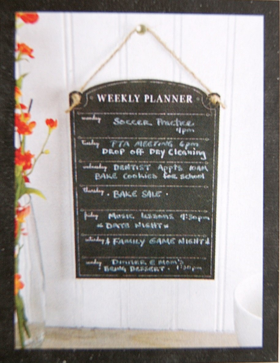 Amazon.com : All Chalked Up Chalkboard Paper Weekly Planner ...