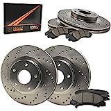 Max Brakes Front & Rear Premium XD Rotors and Ceramic Pads Brake Kit   KT015223-1