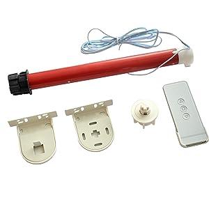 MorningRising 12V DIY Electric Roller Blind / Shade Tubular 25mm Motor Kit & Remote Controller