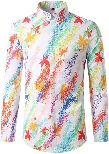 Camisa Vintage Hawaiana para Hombre, Manga Larga, Color ...