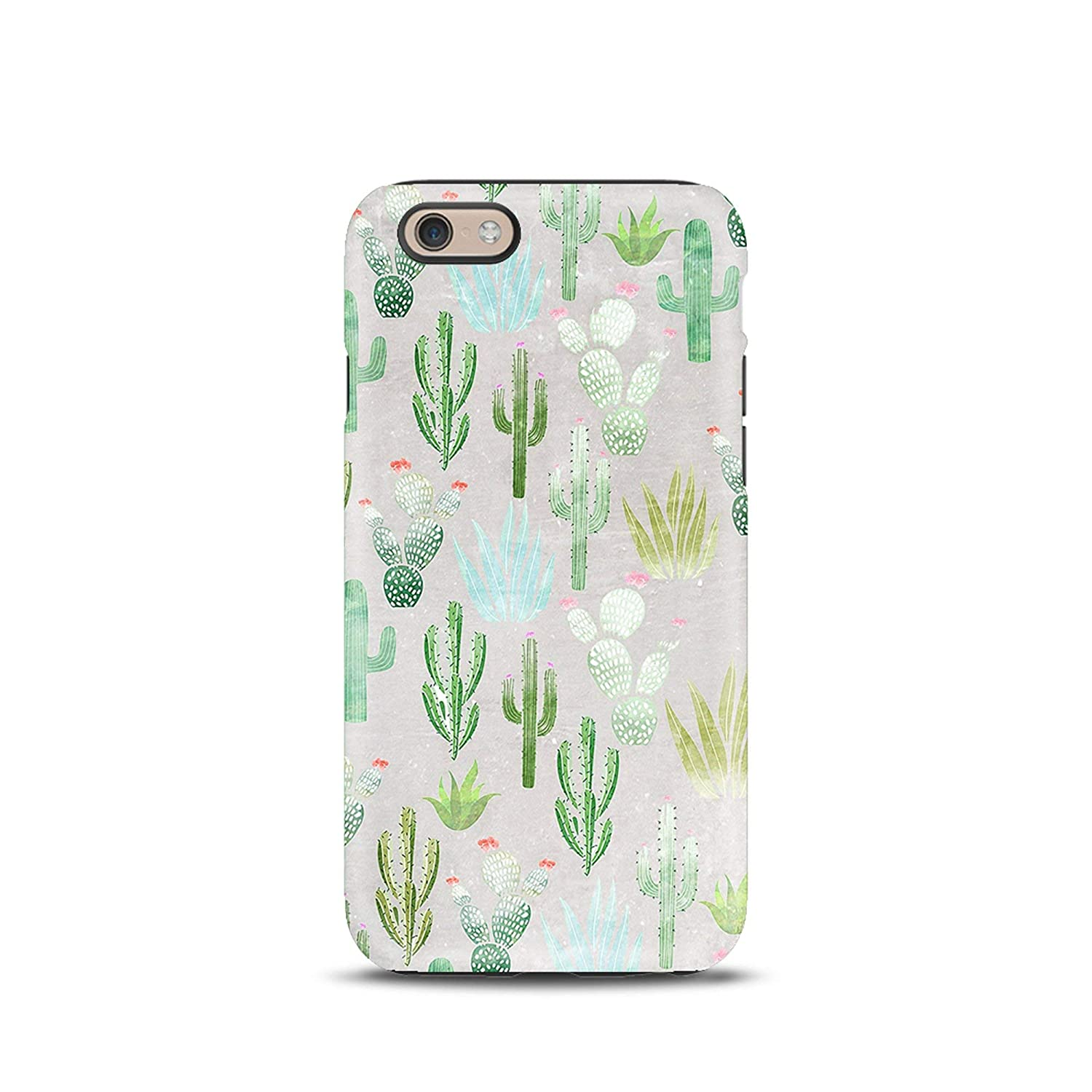 Cactus Floral Flowers cover case TPU Tough for iPhone 5, 5s, 6, 6s, 7, 7 plus, 8, 8 plus, X, XS, for Galaxy S6, S7, S8