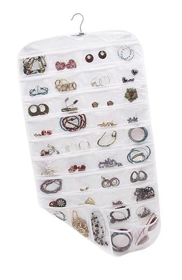 Amazoncom Szxxc Closet Canvas Ultra 80 Pocket Hanging Jewelry