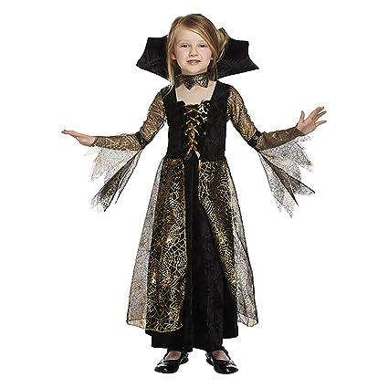 Salveo Filles Spiderella Vampire araignée sorcière Halloween Costume robe  pour 4\u201312 (4,6 ans)