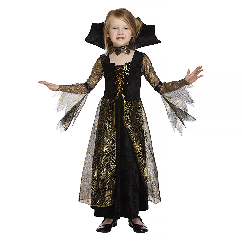 Salveo Girls Spiderella vampiro ragno costume da strega di Halloween vestito per 4 12 anni