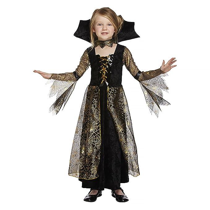 Saldi 2019 prezzo minimo modelli alla moda Salveo Girls Spiderella vampiro ragno costume da strega di Halloween  vestito per 4 – 12 anni