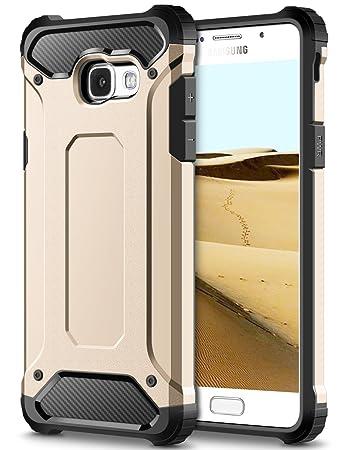 Samsung Galaxy A5 2017 Hülle, Coolden® Premium [Armor Serie] Outdoor Stoßfest Handyhülle PC Bumper + Silikon TPU Air Cushion Technologie Schutzhülle