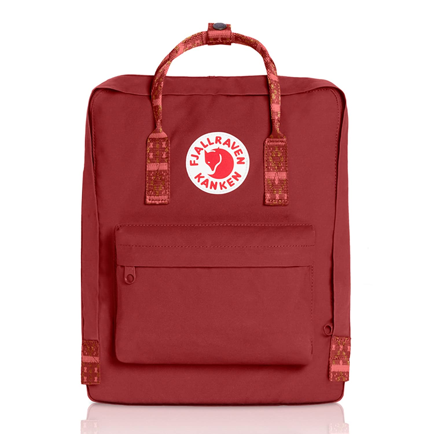 [フェールラーベン] FJALL RAVEN Kanken 23510 B01N5IJ351 Deep Red-Folk pattern Deep Red-Folk pattern