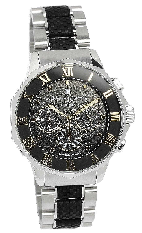 [サルバトーレマーラ]腕時計 ウォッチ 電波ソーラー クロノグラフ フルオートカレンダー ビジネス メンズ B01M7X1S90