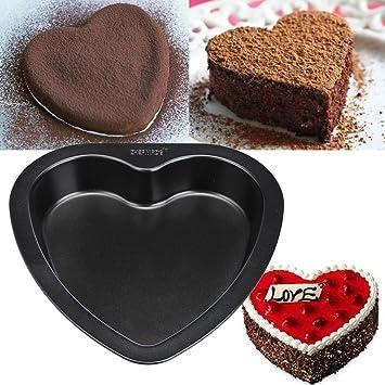 Tuu Moldes para Pasteles Forma de corazón, de Silicona, antiadherentes, para decoración de azúcar, Chocolate: Amazon.es: Jardín