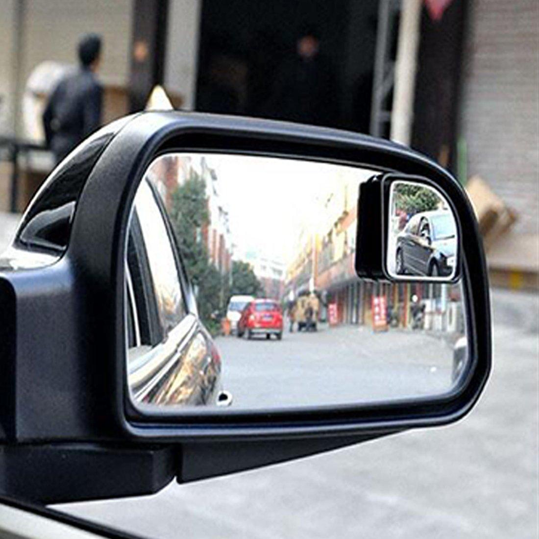 Andux Zone Blind Spot Spiegel HD Glas konvex Weitwinkel R/ückansicht Auto Stick On Lens 2 St/ücke QC-MDJ-01 Rechteck Form
