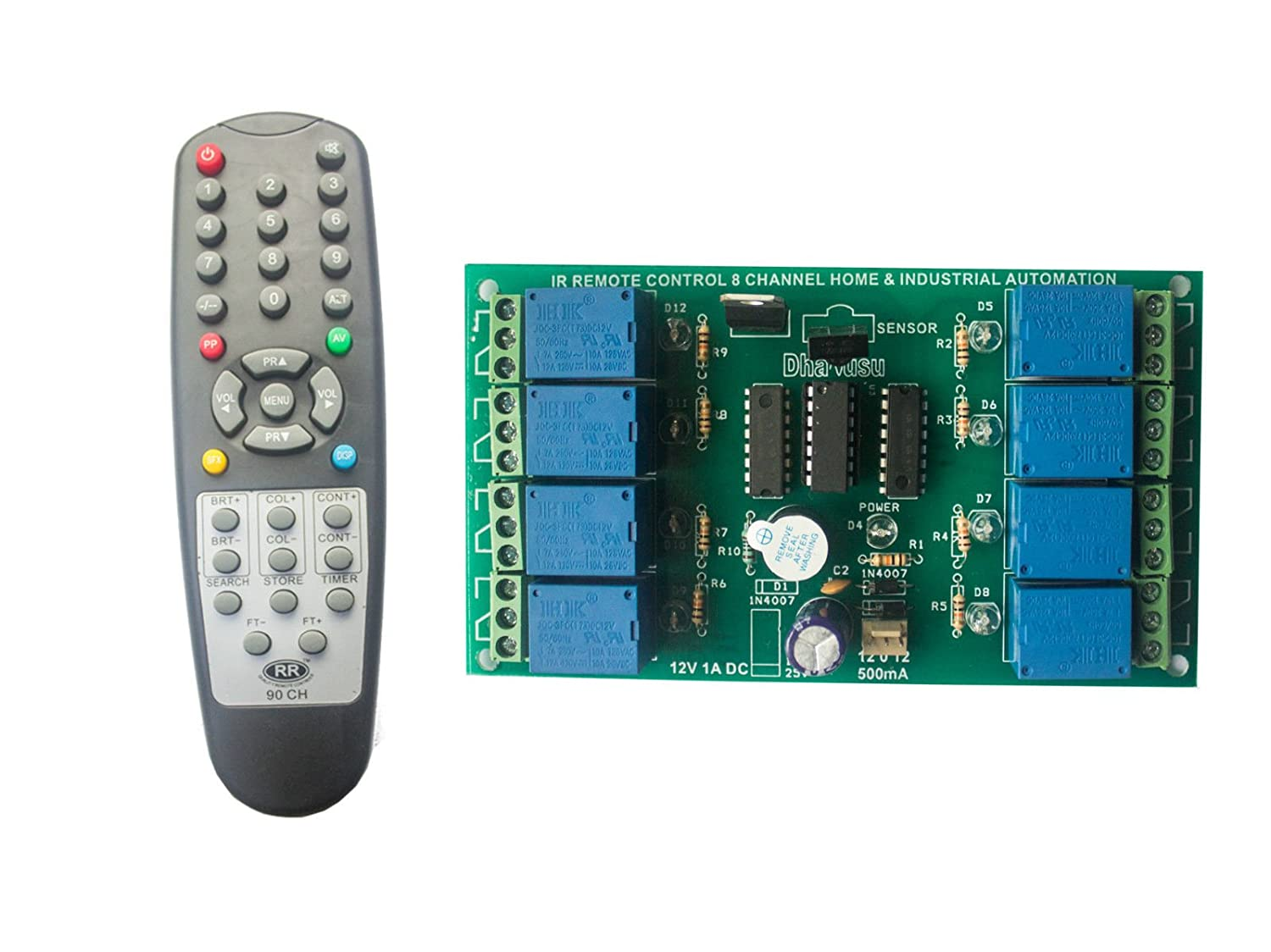 Wireless Infrared Ir Remote Control 8 Channel Board Home Transmitter Integrated Circuit Industrial Automation Improvement