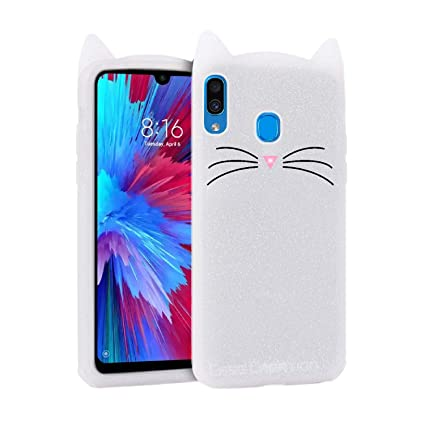 Case Creation Redmi Note 7 Cat Covers Cute 3d Mustache Cat Squishy Kitty Soft Silicone Mobile Phone Cases Back Cover For Mi Redmi Note 7 White Shade