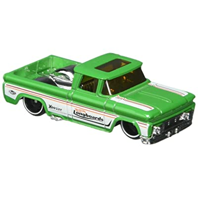 Hot Wheels 2020 Surf's Up Custom '62 Chevy Pickup 255/365, Green: Toys & Games