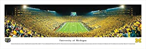 Michigan Football - Under The Lights - 2011 End Zone View - Blakeway Panoramas Print