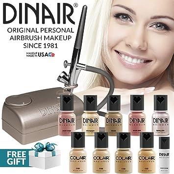 Dinair Airbrush Makeup Professional Natural Look Summer Kit   FAIR Shades   10pc Make-up
