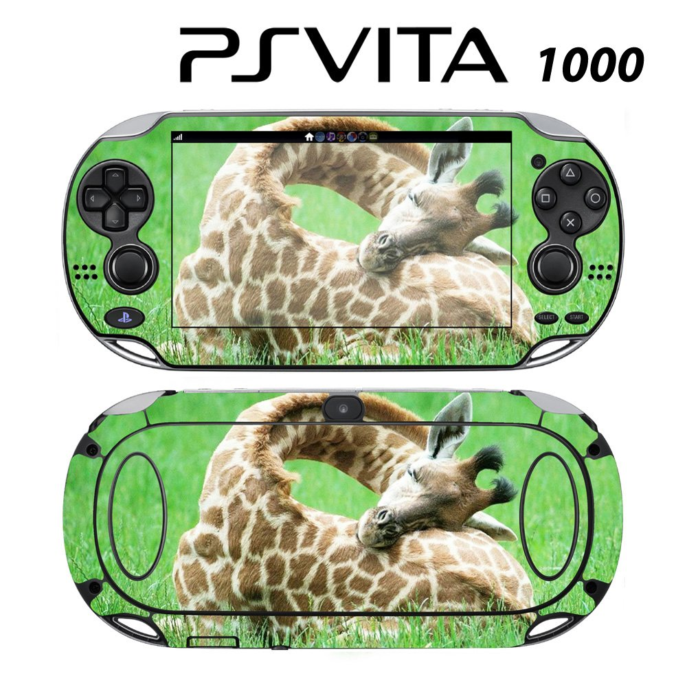 Decorative Video Game Skin Decal Cover Sticker for Sony PlayStation PS Vita (PCH-1000) - Sleeping Baby Giraffe