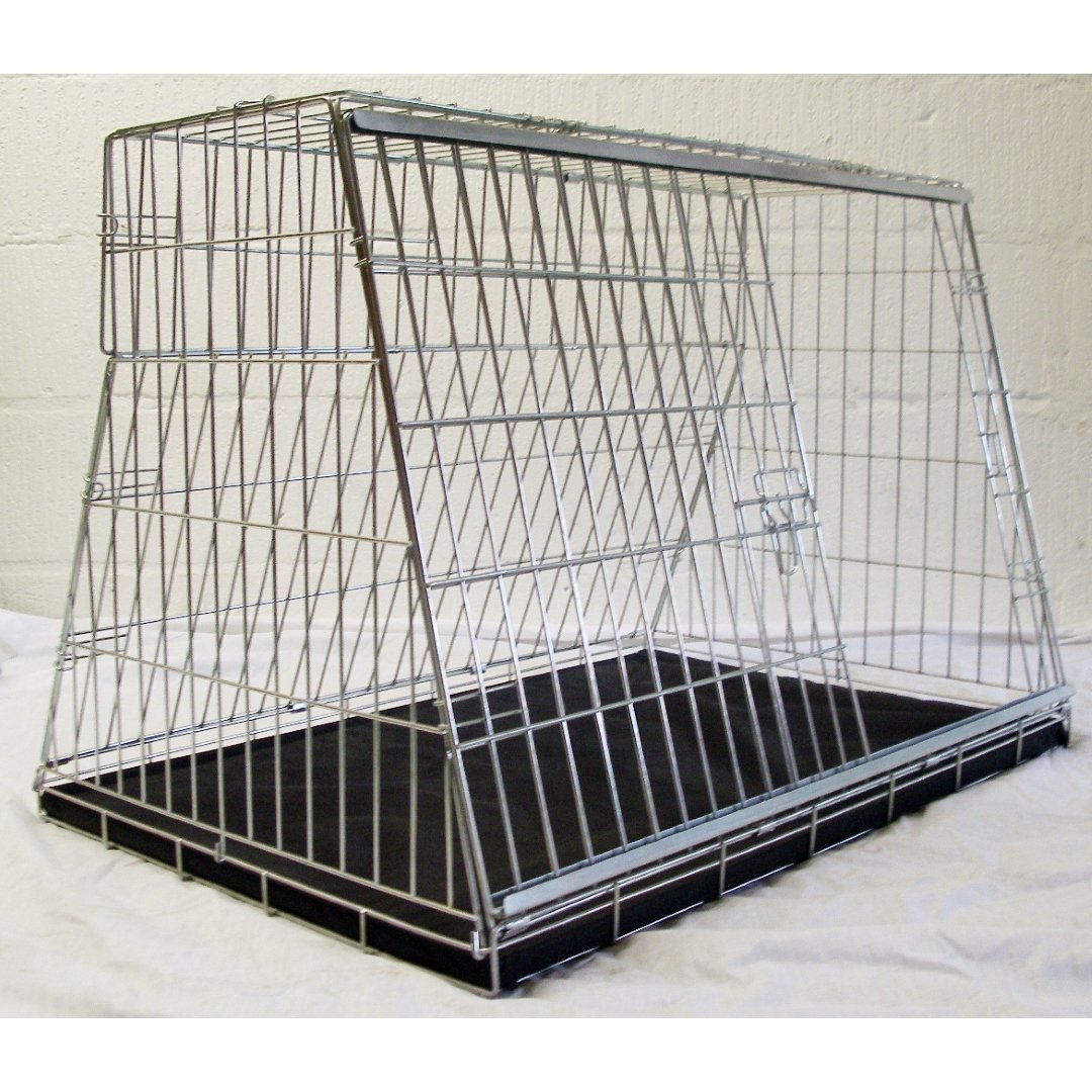 Pet World SKODA FABIA REG SLOPING CAR DOG CAGE BOOT TRAVEL CRATE PUPPY GUARD