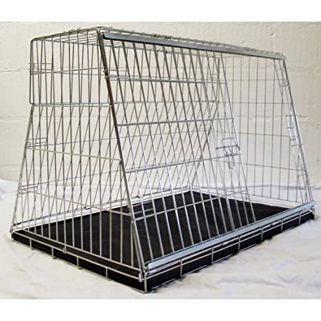 Jaula de coche para perro, de 91 cm, con diseño «Puppi Crate», para coches con maletero o portón trasero.