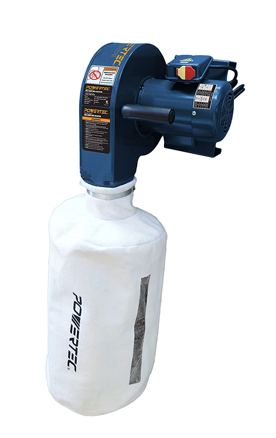 POWERTEC DC5370 Wall Dust Collector with 2.5 Micron Filter Bag