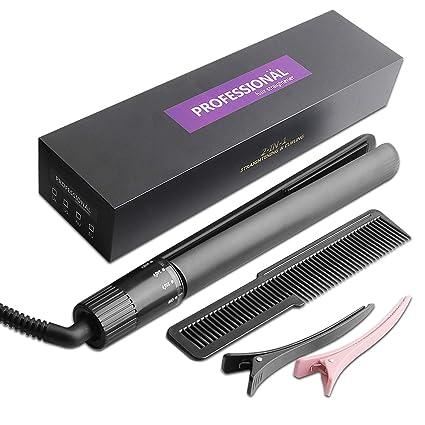 Amazon.com: Plancha profesional para alisar el cabello de ...