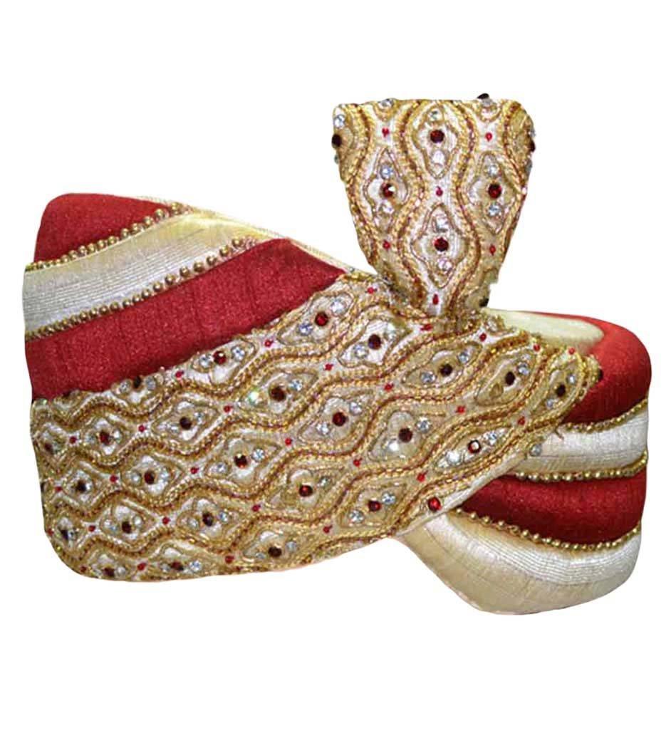 INMONARCH Mens Wedding Turban pagari safa hat for Groom TU2249 22H-inch Multi-color