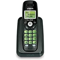 VTech CS6114-11 DECT 6.0 Cordless Phone with Caller ID/Call Waiting, Black with 1 Handset
