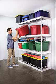 saferacks garage storage rack white steel shelving unit 2u0027d x 6