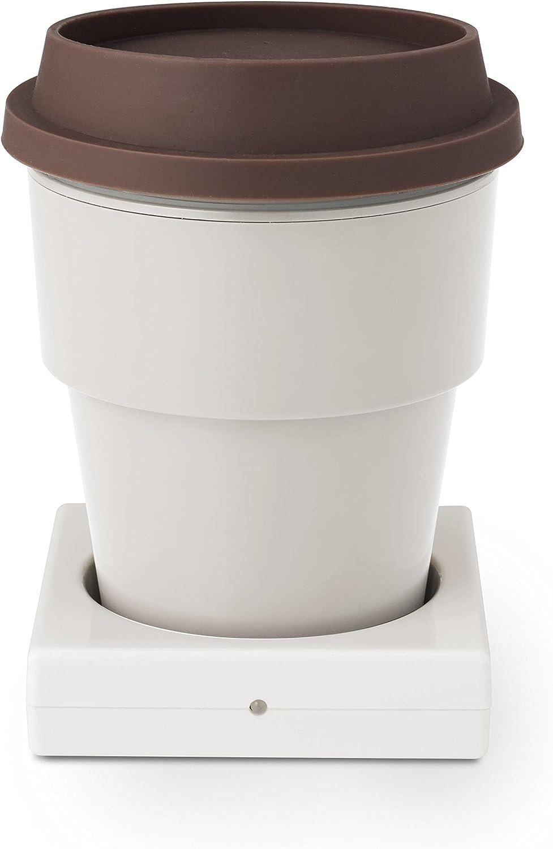 グリーンハウス USB インサートカップ ウォーマー 50℃~60℃ 保温 アイボリー GH-CUPA-IV