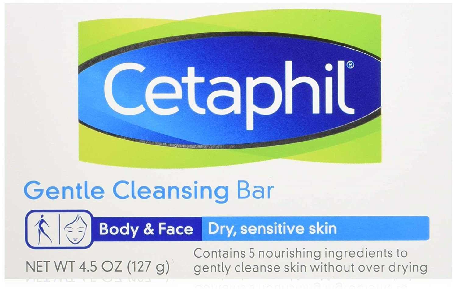 Cetaphil Gentle Cleansing Bar for Dry/Sensitive Skin 4.50 Ounce (Packs of 6)