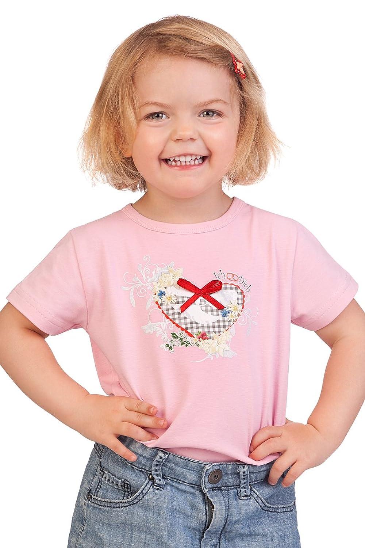 Trachten Kinder Fun-Shirt - KLARA - rosa