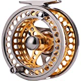 Sougayilang Fly Fishing Reel Large Arbor 2+1 BB with CNC-machined Aluminum Alloy Body and Spool in Fly Reel Sizes 5/6