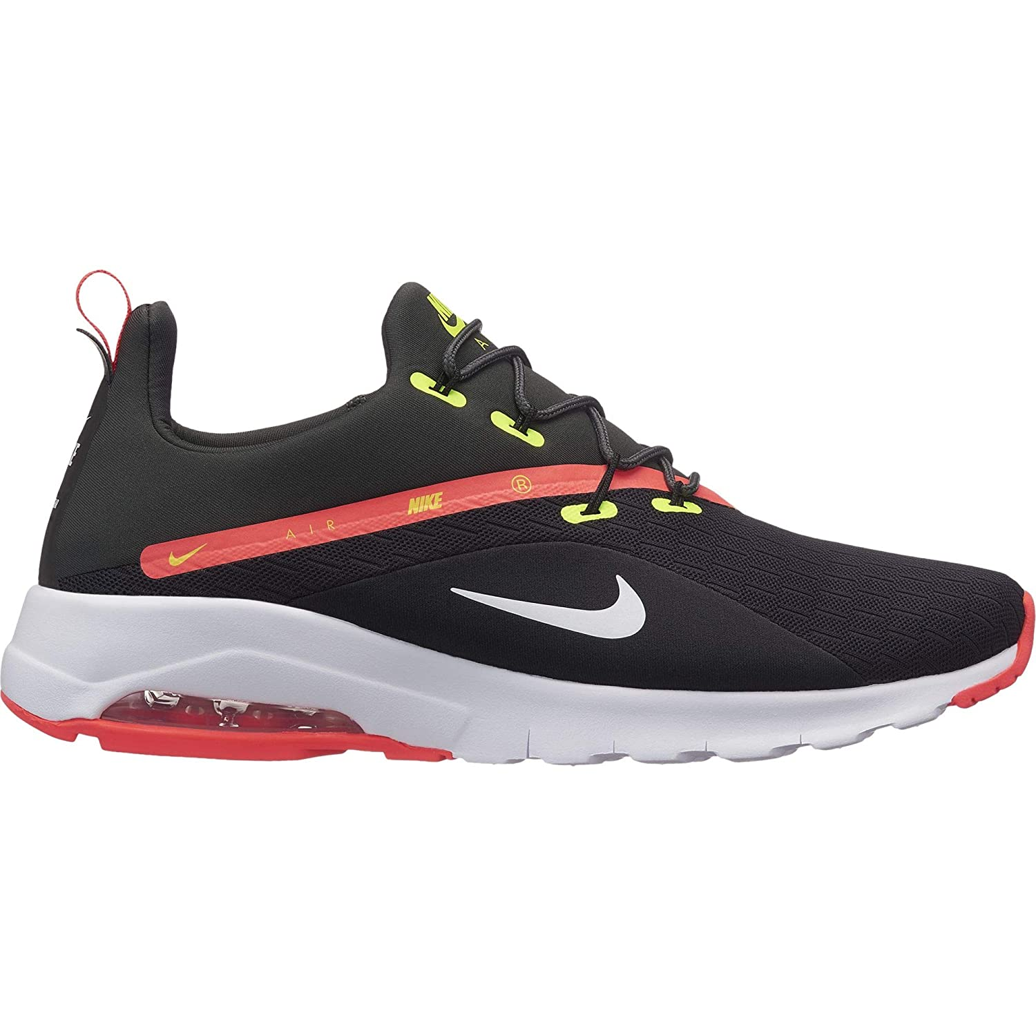 BLACK NIKE Mens Air Max Motion Racer 2 Sneaker