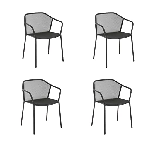 Oferta Emu 4 sillones de acero apilable Darwin Hierro ...