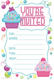 Amazon Com Spa Birthday Party Invitations Fill In Style 20 Count