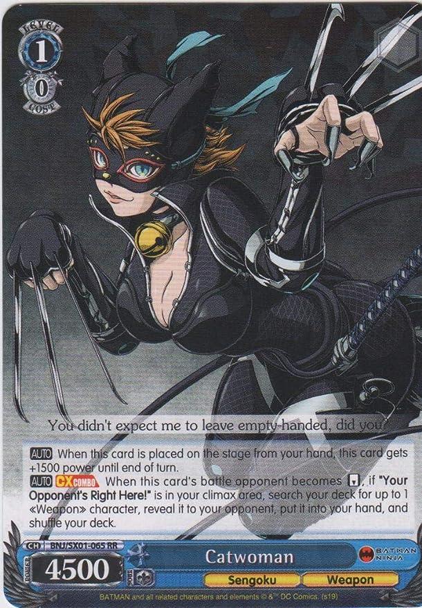 Amazon.com: Weiss Schwarz - Catwomen - BNJ/SX01-064 RR ...