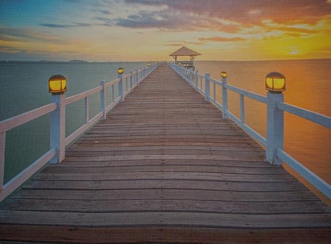 Led luci schermo see ponte di legno steg murale spiaggia mare