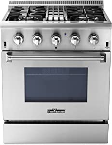 "Thor Kitchen 30"" Dual Fuel Range, Freestanding, 4.2 cu. ft. Oven, Stainless Steel (HRD3088U)"