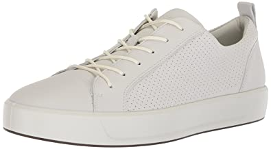 e13afae07cc7 ECCO Men s Soft 8 Tie Sneaker White Perforated 43 M EU (9-9.5 US