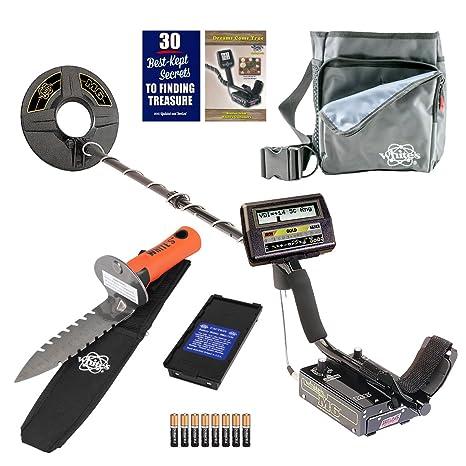 Los blancos M6 DETECTOR de metales de excavadoras especial con digmaster y bolsa de utilidad