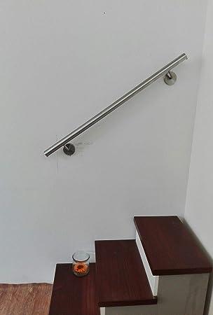 Pasamanos acero inoxidable AISI 304 Diam. 42 mm: Amazon.es: Bricolaje y herramientas