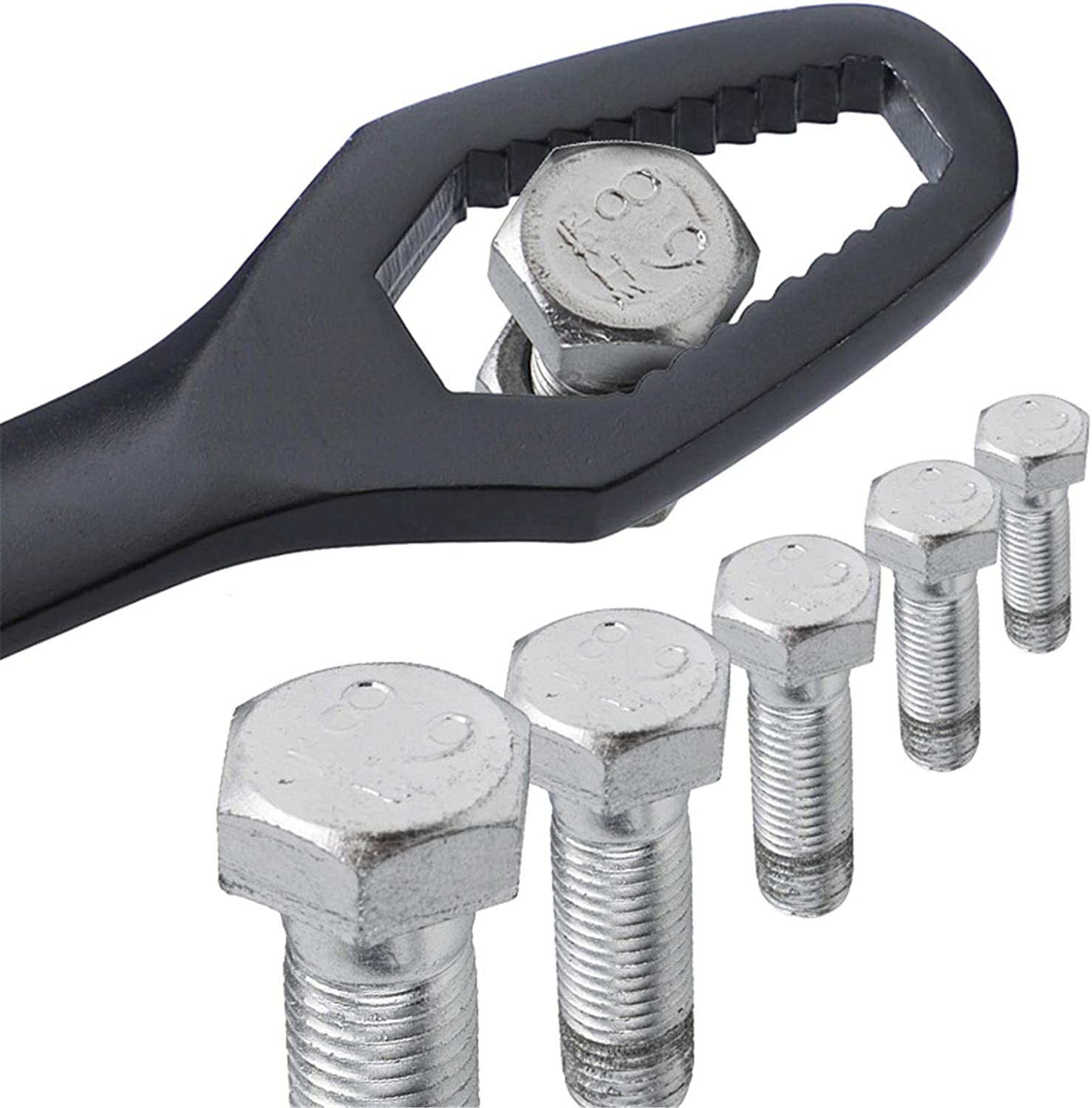 hebaotong Double-Headed Self-Tightening Wrench Multipurpose Spanner 8-22mm Key Set Screw Nuts Wrenches Self-Tightening Repair for Screw Nuts Removal