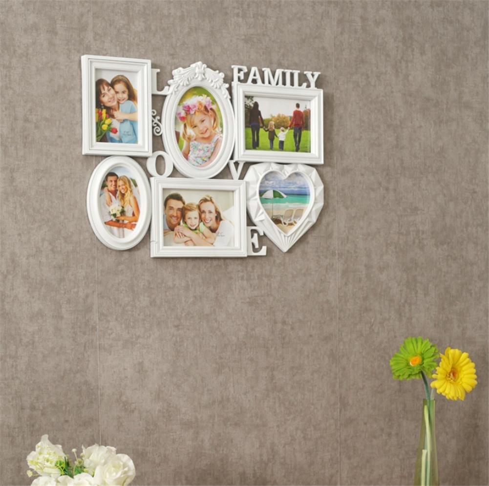 OOFYHOME Rahmen Wand-hängender Collagen-Bilderrahmen, passt Standard ...