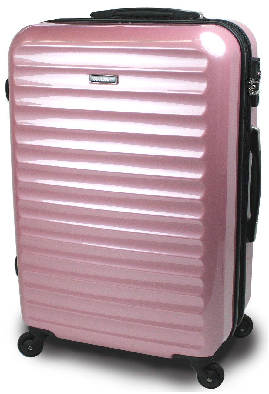 スーツケース 3サイズ( 大型  中型  小型 ) 超軽量 キャリーバッグ TSAロック 【 ヴィアーノ2020 ダブルファスナーモデル 】 鏡面ミラー加工 B072R58B72 大型 Lサイズ 75cm 7~14泊用|スイートピンク スイートピンク 大型 Lサイズ 75cm 7~14泊用