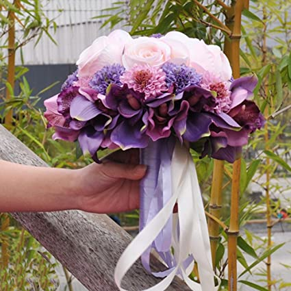 Amazon chinese wedding bridal bouquets holding bouquets korean chinese wedding bridal bouquets holding bouquets korean simulation flower bridesmaid props decorations b junglespirit Gallery